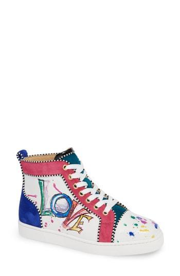 Women's Christian Louboutin Love High Top Sneaker .5us / 35.5eu - White