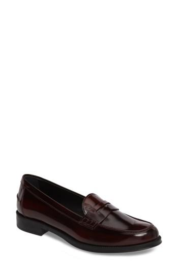 Women's Tod's Penny Loafer Us / 34eu - Burgundy