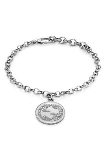 Women's Gucci Silver Coin Charm Line Bracelet