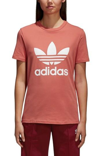 Women's Adidas Trefoil Tee - Red
