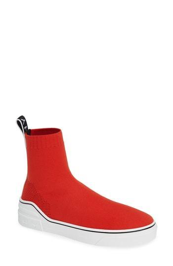 Women's Givenchy George V Hi Sock Sneaker .5us / 35.5eu - Red