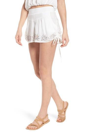 Women's Raga Lotus Love Side Tie Shorts - White