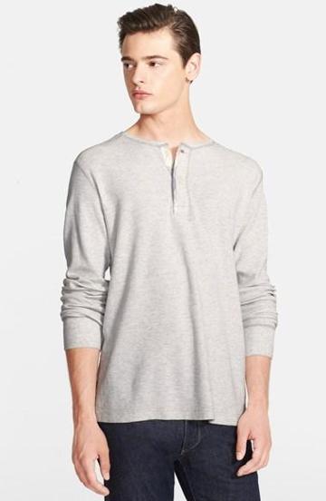 Grayers Slub Waffle Henley Shirt
