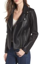 Women's Bb Dakota Amelie Faux Leather Moto Jacket - Black