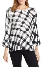 Women's Nic+zoe Checkered Top - White