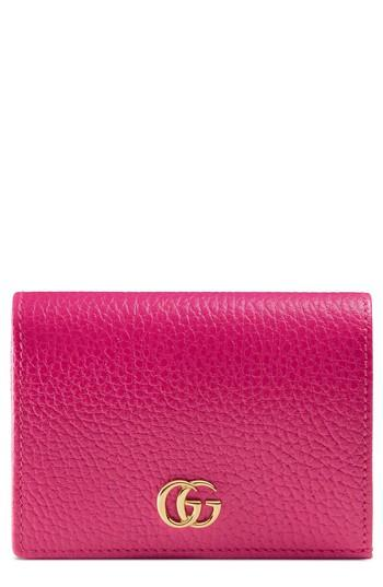 Women's Gucci Marmont Leather Card Case -