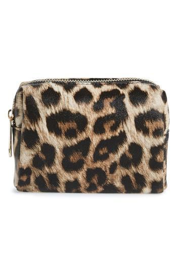 Yoki Bags Leopard Print Cosmetics Bag, Size - Leopard