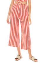 Women's Faithfull The Brand Tomas Stripe Linen Wide Leg Pants - Orange
