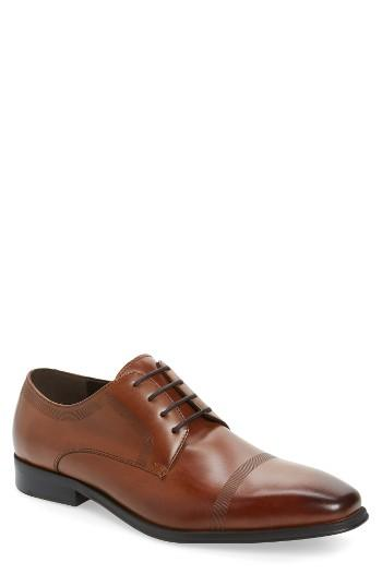 Men's Reaction Kenneth Cole Pure Hearted Cap Toe Derby M - Brown