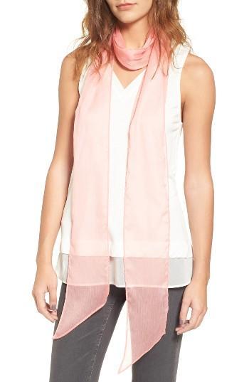 Women's Hinge Chiffon Skinny Scarf, Size - Pink