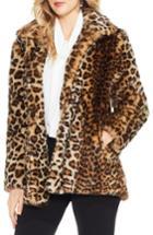 Women's Vince Camuto Leopard Print Faux Fur Jacket