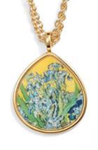 Women's Erwin Pearl Irises Teardrop Pendant Necklace