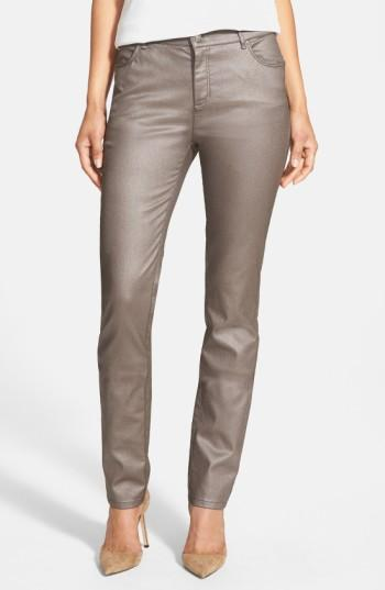 Women's Lafayette 148 New York Curvy Fit Skinny Jeans - Brown
