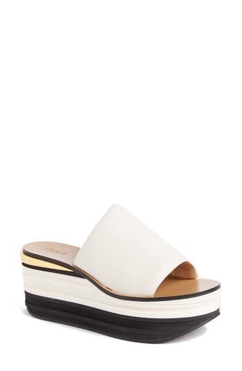 Women's Chloe Camille Platform Sandal Us / 35eu - White