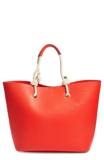 Phase 3 Rope Handle Faux Leather Tote -