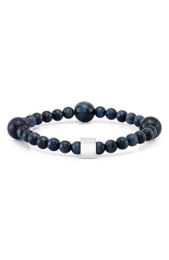 Men's Room101 Blue Tiger's Eye Bead Bracelet