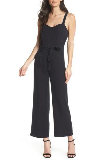 Women's Paige Emma Tie-waist Jumpsuit - Black