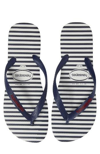 Men's Havaianas Top Nautical Flip Flop /46 Br - Blue