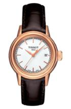 Women's Tissot Carson Leather Strap Watch, 28mm