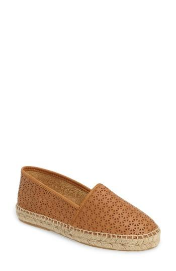 Women's Patricia Green Anna Perforated Espadrille M - Beige