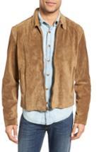 Men's Billy Reid Luke Suede Jacket - Beige