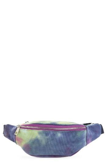 Street Level Tie Dye Belt Bag - Blue