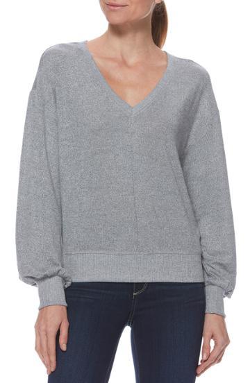 Women's Paige Arizona Puff Sleeve Top - Grey