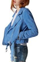 Women's Blanknyc Suede Moto Jacket - Blue