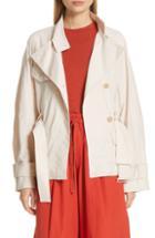 Women's Vince Drapey Belted Linen Blend Jacket - Beige