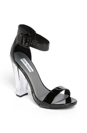 Steve Madden 'madame' Black Patent Sandal Black Patent