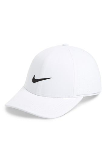 414ce9b72 Men's Nike Aerobill Legacy 91 Golf Hat - White   LookMazing