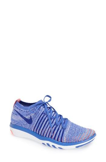 Women's Nike 'free Transform Flyknit' Training Shoe M - Blue