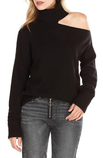Women's Paige Raundi Cutout Shoulder Sweater - Black