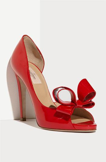 Valentino Couture Bow D'orsay Pump Red Patent