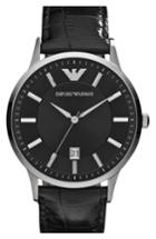 Men's Emporio Armani Slim Leather Strap Watch, 43mm