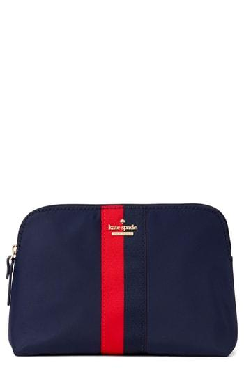 Kate Spade New York Watson Lane Varsity - Small Briley Cosmetics Case, Size - Rich Navy