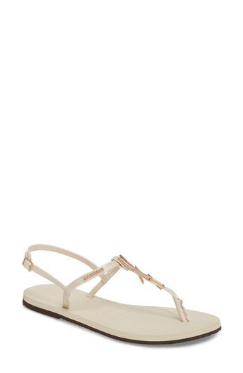 Women's Havaianas You Riviera Embellished Sandal /36 Br - Beige