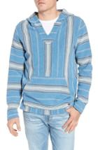 Men's Faherty Baja Terry Poncho, Size - Blue