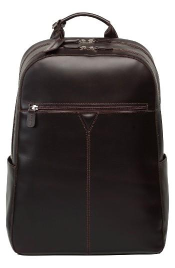 Men's Johnston & Murphy Leather Backpack - Brown