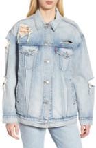 Women's Levis Baggy Trucker Denim Jacket - Blue