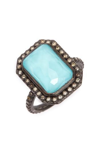 Women's Armenta Old World Midnight Turquoise & Diamond Ring
