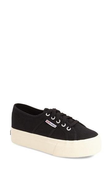 Women's Superga 'acot Linea' Sneaker Us / 40eu - Black