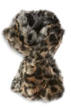 Women's Sole Society Leopard Faux Fur Stole
