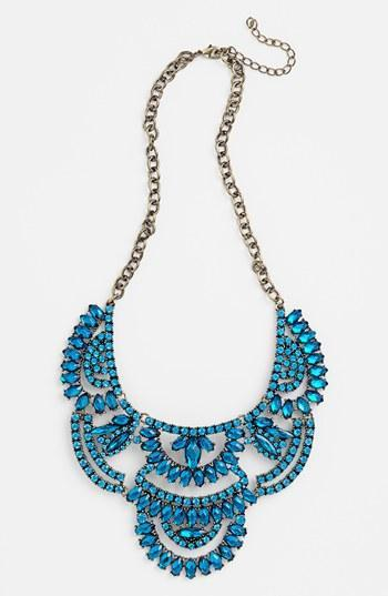 Tildon Stone Statement Necklace Sapphire