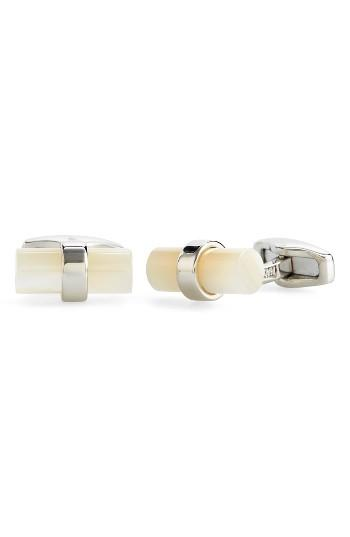 Men's Salvatore Ferragamo Mother Of Pearl Cuff Links