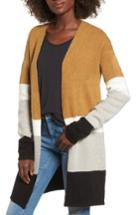 Women's Love By Design Colorblock Cardigan - Beige