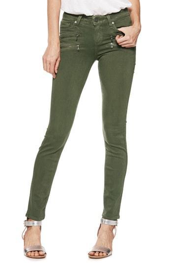 Women's Paige Transcend Edgemont Skinny Jeans - Green
