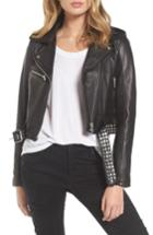 Women's Blanknyc Studded Leather Moto Jacket - Black