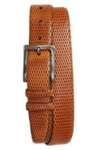 Men's Torino Belts Embossed Leather Belt - Honey