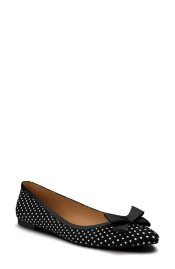 Women's Shoes Of Prey Polka Dot Ballet Flat A - Black
